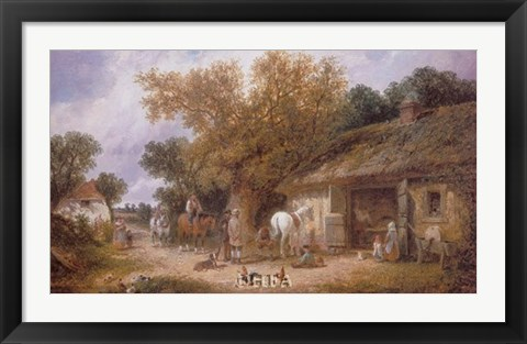 Framed Country Blacksmith, 1870 Print