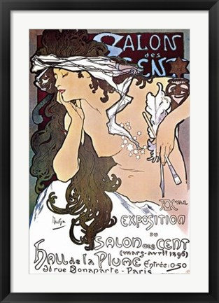 Framed Salon des Cent Print