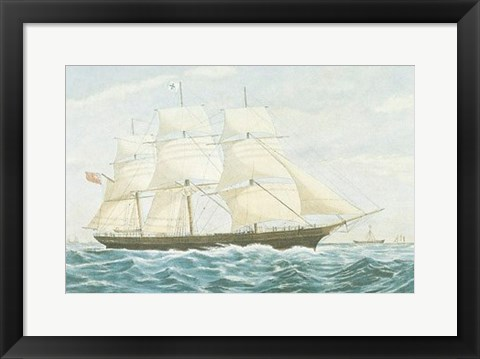 Framed Clipper Ship Mirage Print