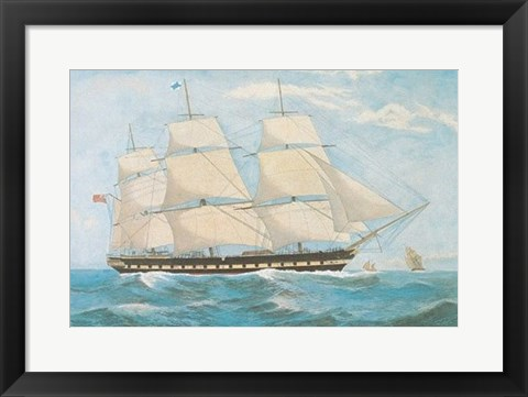Framed Clipper Ship Shannon Print