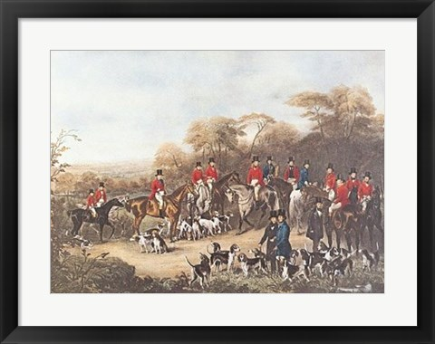 Framed Bury Hunt Print