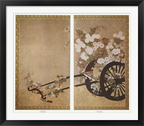 Framed Festival Flower Cart Print