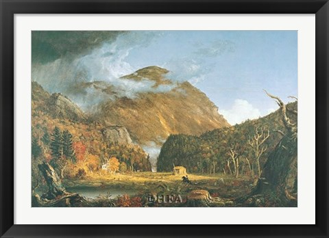 Framed Notch of the White Mountains Print
