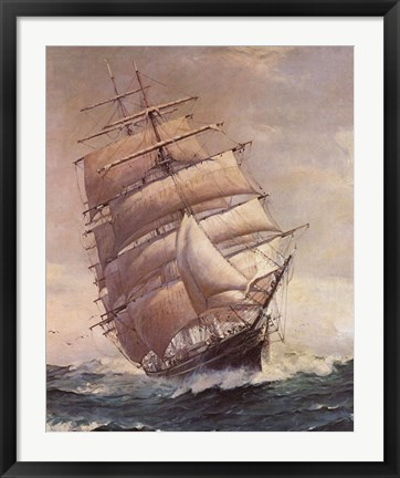 Framed Romance of Sail Print