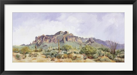 Framed Superstition Mountain Print