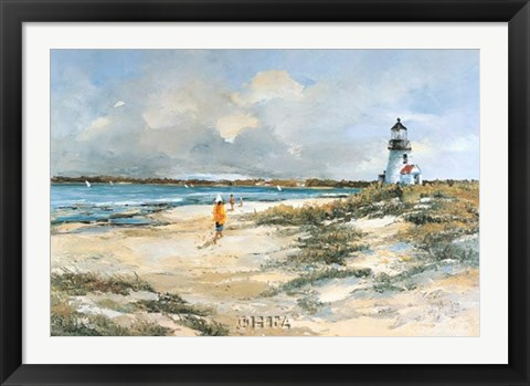 Framed By the Lighthouse Print