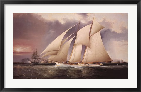 Framed Yacht Magic Print