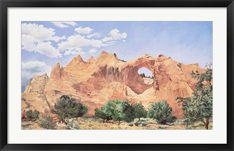 Framed Window Rock Print