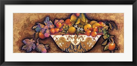 Framed Figs & Lemons in a Moroccan Bowl Print