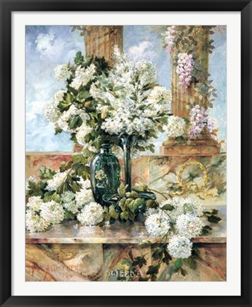 Framed Hydrangeas in Bloom Print