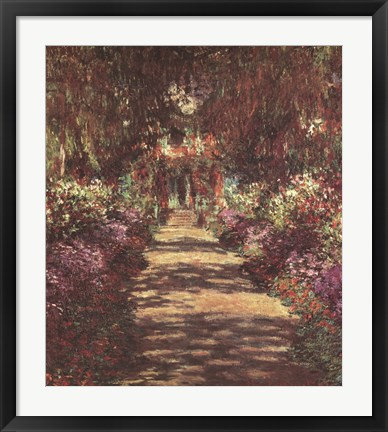 Framed Pathway in Monet's Garden at Giverny, c.1902 Print