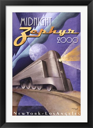 Framed Midnight Zephyr 2000 Print