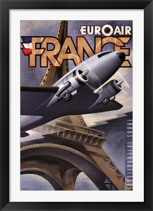 Framed Euroair France Print