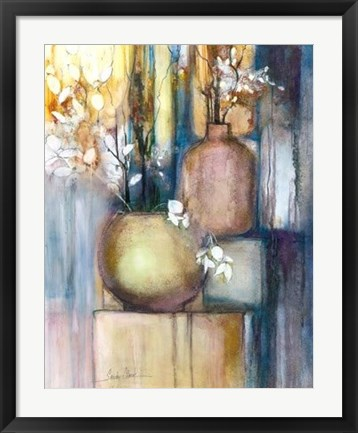 Framed Still Life with Two Vases Print