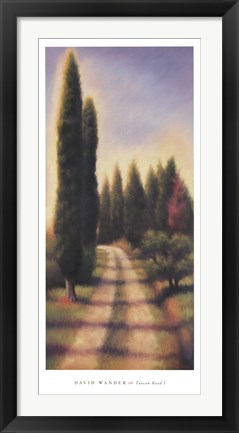 Framed Tuscan Road I Print