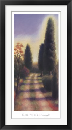 Framed Tuscan Road II Print
