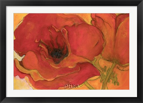Framed Poppies in the Sun Print
