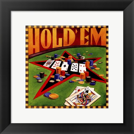 Framed Hold 'em Poker Print