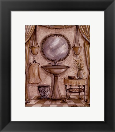 Framed Charming Bathroom IV Print