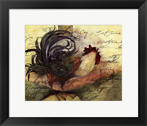 Framed Le Rooster III Print