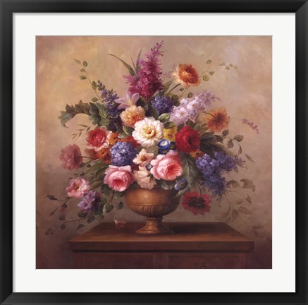 Framed Heirloom Bouquet II Print