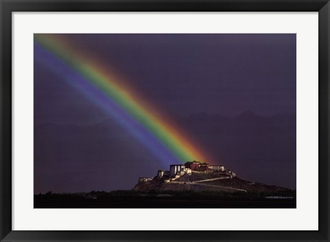 Framed Rainbow Over The Potala Palace Print