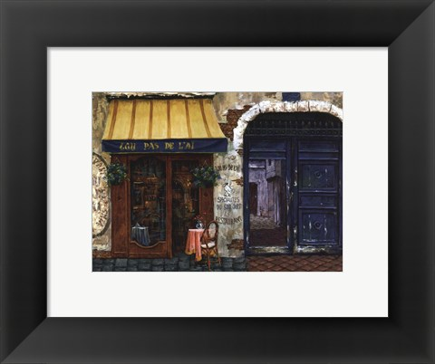 Framed Yellow Awning Print