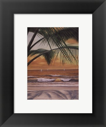 Framed Paradiso Sunset Print