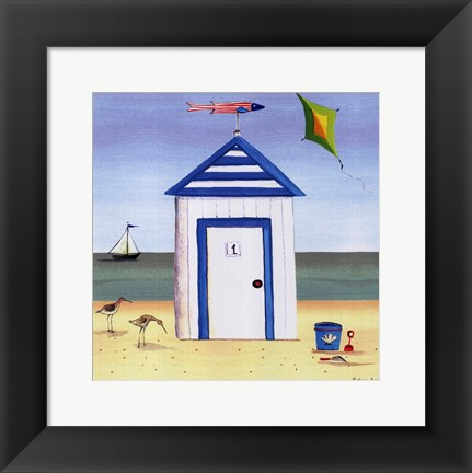 Framed Beach House I Print