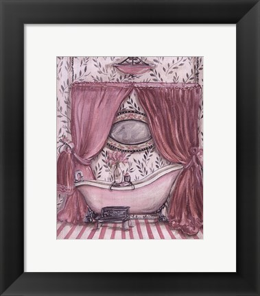 Framed Fanciful Bathroom II Print