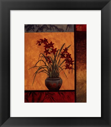 Framed Cymbidium Window Print