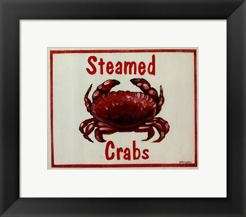 Framed Steamed Crabs Print