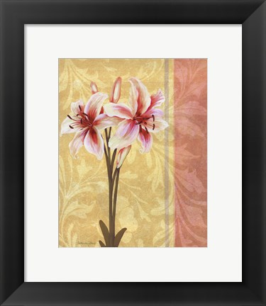 Framed Flower Bouquet III Print