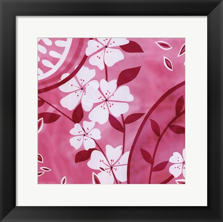 Framed Summer Blossoms 4 Print