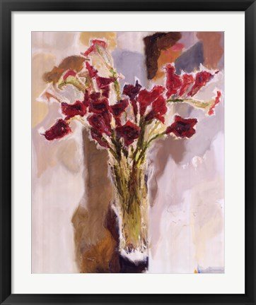 Framed Red Calla Lilies Print