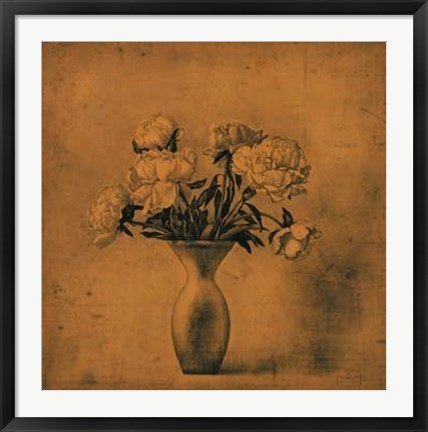 Framed Fragrant Peonies Print