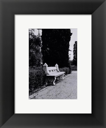 Framed Bench, Portugal Print