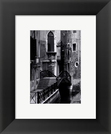Framed Venice Bridge Print