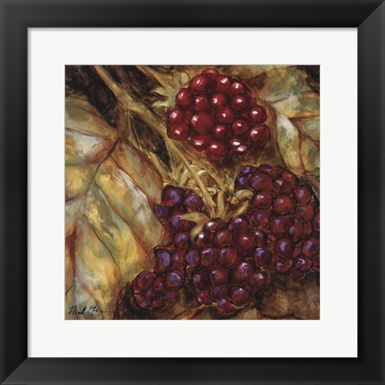 Framed Ripening Berries Print