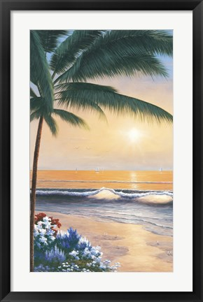 Framed Palm Beach Sunrise Print