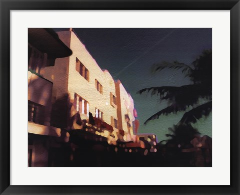 Framed Black Palms Print