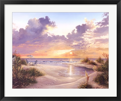 Framed Paradise Sunset Print