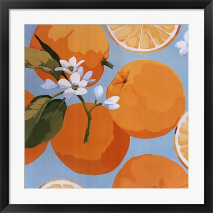 Framed Fresh Oranges Print