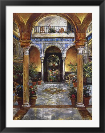Framed Mediterranean Fountain Print