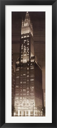Framed Woolworth Building Print