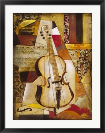 Framed Piece Music II Print