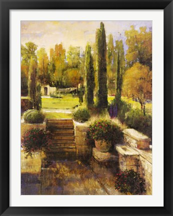 Framed In the Cypress Garden Print