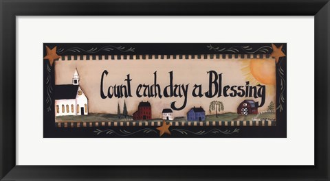 Framed Count Each Day a Blessing Print