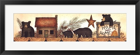 Framed Backwoods Bears Print