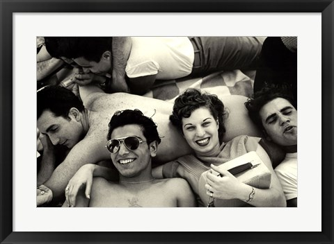 Framed Teenagers, Coney Island, 1949 Print